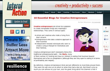 http://lateralaction.com/articles/blogs-creative-entrepreneurs/