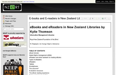 https://nzert.wikispaces.com/E-books+and+E-readers+in+New+Zealand+Libraries+-+an+overview