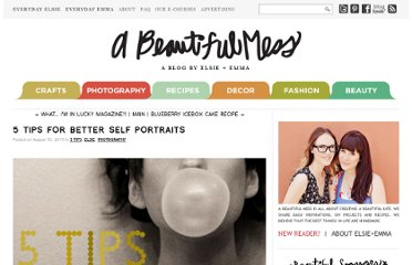 http://abeautifulmess.typepad.com/my_weblog/2011/08/5-tips-for-better-self-portraits.html