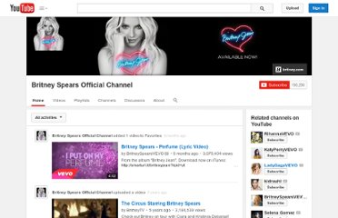 http://www.youtube.com/user/BritneyTV?blend=6&ob=5