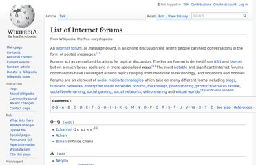 http://en.wikipedia.org/wiki/List_of_Internet_forums