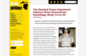 http://www.brainpickings.org/index.php/2011/08/17/stanford-prison-experiment-40/