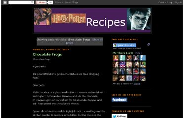 http://www.harrypotterrecipes.net/search/label/chocolate%20frogs