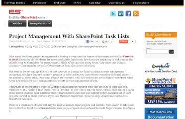https://www.nothingbutsharepoint.com/sites/eusp/Pages/project-management-with-sharepoint-task-lists.aspx
