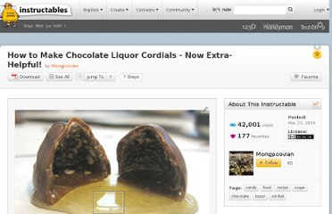 http://www.instructables.com/id/How-to-Make-Chocolate-Liquor-Cordials/