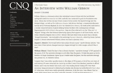 http://notesandqueries.ca/an-interview-with-william-gibson/