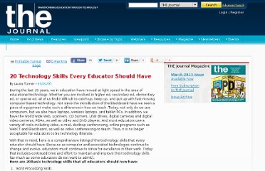 http://thejournal.com/articles/2005/06/01/20-technology-skills-every-educator-should-have.aspx