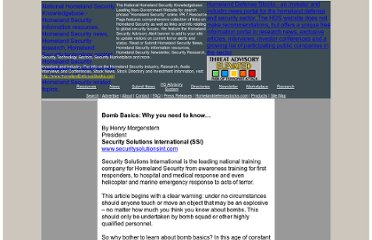 http://www.nationalhomelandsecurityknowledgebase.com/Research/International_Articles/Bomb_Basics.html