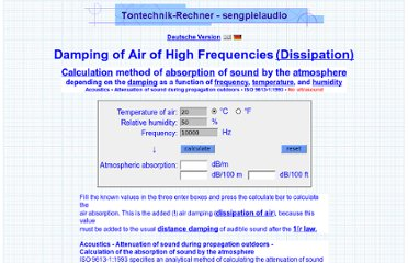http://www.sengpielaudio.com/calculator-air.htm