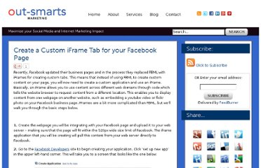 http://www.out-smarts.com/2011/03/22/create-a-custom-iframe-tab-for-your-facebook-page/