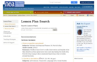 http://www.nea.org/tools/lesson-plan-search.html