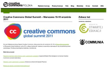 http://creativecommons.pl/cc_summit_2011/