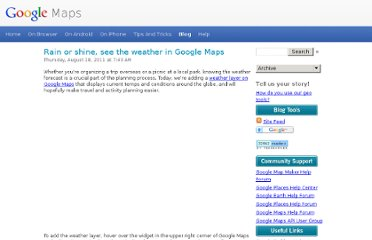 http://google-latlong.blogspot.com/2011/08/rain-or-shine-see-weather-in-google.html