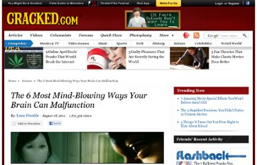 http://www.cracked.com/article_19369_the-6-most-mind-blowing-ways-your-brain-can-malfunction.html