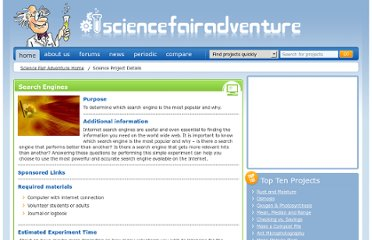 http://www.sciencefairadventure.com/ProjectDetail.aspx?ProjectID=100