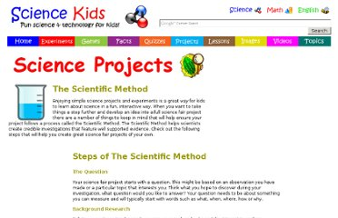 http://www.sciencekids.co.nz/projects/thescientificmethod.html