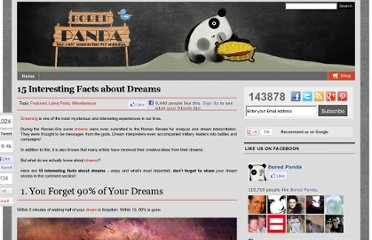 http://www.boredpanda.com/15-interesting-facts-about-dreams-dreaming/