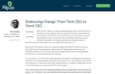 http://about.flip.to/2011/08/embracing-change-from-tech-ceo-to-hotel-ceo/