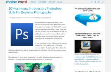 http://www.makeuseof.com/tag/introductory-photoshop-skills-for-the-beginning-photographer/