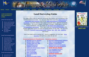 http://www.johann-sandra.com/surveying/land-surveying-links.htm
