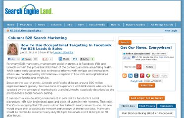 http://searchengineland.com/how-to-use-occupational-targeting-in-facebook-for-b2b-leads-sales-81575