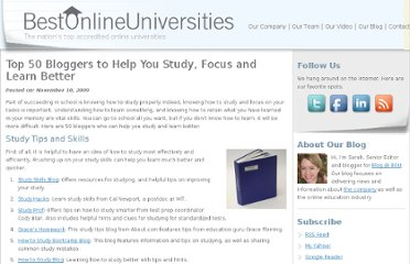 http://bestonlineuniversities.com/2009/top-50-bloggers-to-help-you-study-focus-and-learn-better/