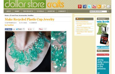 http://dollarstorecrafts.com/2010/09/make-recycled-plastic-cup-jewelry/