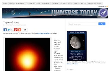 http://www.universetoday.com/24299/types-of-stars/