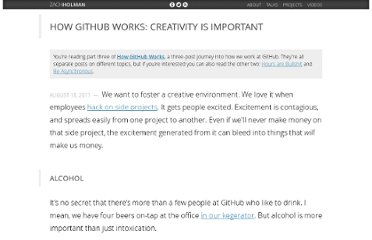 http://zachholman.com/posts/how-github-works-creativity/