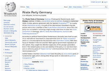 http://en.wikipedia.org/wiki/Pirate_Party_Germany