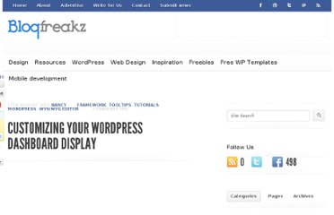http://blogfreakz.com/wordpress-tutorial/customizing-your-wordpress-dashboard-display/