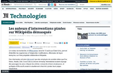 http://www.lemonde.fr/technologies/article/2007/08/20/les-auteurs-d-interventions-pirates-sur-wikipedia-demasques_945885_651865.html#ens_id=824668