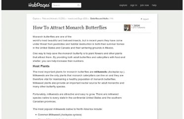 http://kerryg.hubpages.com/hub/How-To-Attract-Monarch-Butterflies