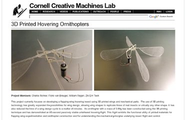 http://creativemachines.cornell.edu/ornithopter