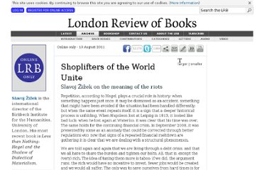 http://www.lrb.co.uk/2011/08/19/slavoj-zizek/shoplifters-of-the-world-unite