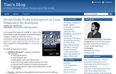 http://www.timdavies.org.uk/2010/10/26/social-media-youth-participation-in-local-democracy-for-download/