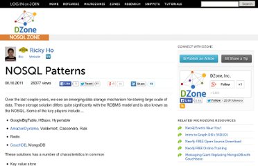 http://cloud.dzone.com/news/nosql-patterns