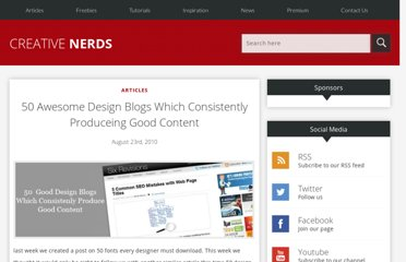 http://creativenerds.co.uk/articles/50-awesome-design-blogs-which-consistently-produce-good-content/#comment-17807