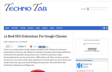 http://technotab.com/12-best-seo-extensions-for-google-chrome/