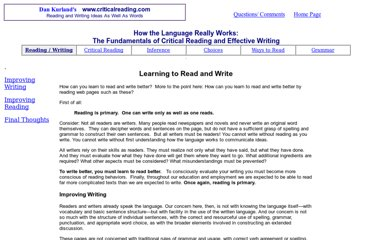http://www.criticalreading.com/learn_read_write.htm