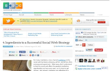 http://www.business2community.com/social-media/4-ingredients-to-a-successful-social-web-strategy-052027