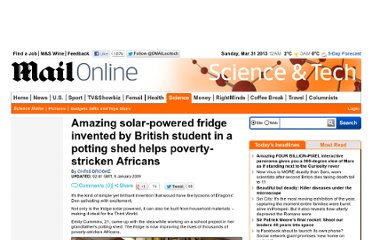 http://www.dailymail.co.uk/sciencetech/article-1108343/Amazing-solar-powered-fridge-invented-British-student-potting-shed-helps-poverty-stricken-Africans.html