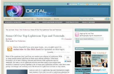 http://digitalphotobuzz.com/some-of-our-top-lightroom-tips-and-tutorials