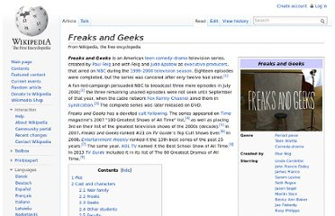 http://en.wikipedia.org/wiki/Freaks_and_Geeks