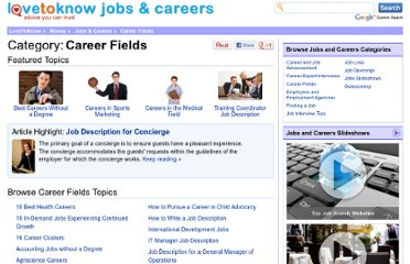 http://jobs.lovetoknow.com/Category:Career_Fields