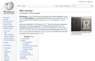http://en.wikipedia.org/wiki/Fiat_money