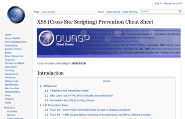 https://www.owasp.org/index.php/XSS_(Cross_Site_Scripting)_Prevention_Cheat_Sheet