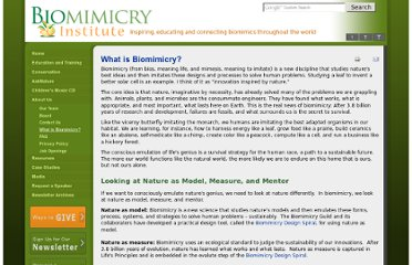 http://www.biomimicryinstitute.org/about-us/what-is-biomimicry.html