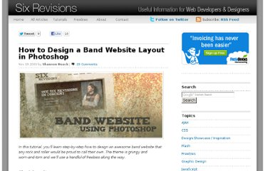 http://sixrevisions.com/tutorials/photoshop-tutorials/how-to-design-a-band-website-layout-in-photoshop/
