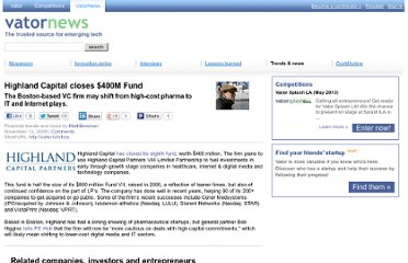 http://vator.tv/news/2009-11-12-highland-capital-closes-400m-fund